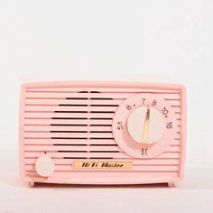 Beautiful Little Pink Vacuum Tube AM Radio by CarolsThreads, $58.00