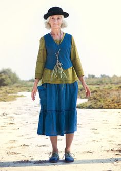 Linen & cotton skirt – Skirts & dresses – GUDRUN SJÖDÉN – Webshop, mail order and boutiques   Colourful clothes and home textiles in natural materials.
