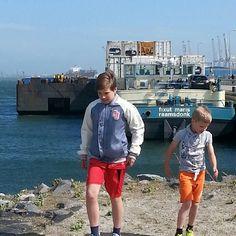 #binnenvaart #container #wind #wachten #maasvlakte