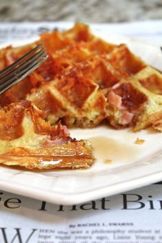 Ham & CheeseWaffles from Blue-Eyed Bakers