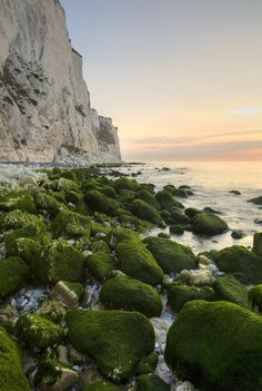 ✮ Sunrise at Saint Margaret Bay, at the famous White Cliff of Dover, Kent, England