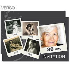 Invitations Anniversaire Adulte - Retrospective - 3