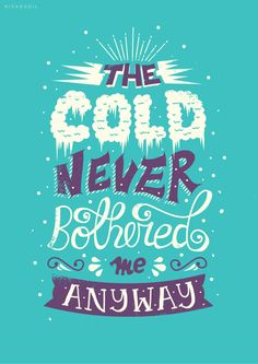 Frozen movie tyopgraphy Beautiful Typography of Disney Movie Frozen by Risa Rodil