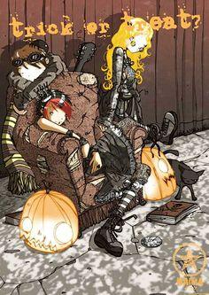 """Nicolas Hitori De """" Halloween Ghoth """" Represented by Sylvie Poggio Artists agency.    http://sylviepoggio.com/wp/portfolios/nicolas-hitori-de-illustration-portfolio-2-2/"""