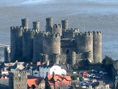 Wales: Conwy Castle  Summer of 1997.