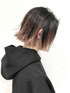 ベリーピンクグラデーション×パツンボブ[平山晶也] Hair Color Streaks, Hair Color Purple, Hair Dye Colors, Edgy Short Hair, Asian Short Hair, Japanese Short Hair, Hair Color Images, Shot Hair Styles, Aesthetic Hair