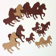 Horse Animal shapes, embellishments. Pony party, horse birthday theme, scrapbooking, DIY craft, card making, table confetti, decoration by MyPaperPlanet on Etsy
