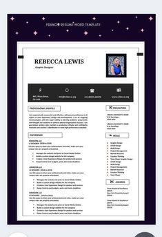 Best Resume, Resume Cv, Cv Template, Resume Templates, Resume Review, Fashion Resume, Resume Words, Cover Letter For Resume