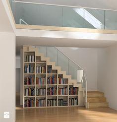 projekt schodów w salonie - zdjęcie od Karolina Wolska - pracownia architektoniczna
