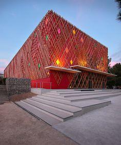 A+ architecture: jean-claude carriere theatre, montpellier  - designboom | architecture & design magazine
