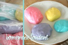 Step by Step Guide to Homemade Fondant with nothing but sugar, water, and cream of tartar (and colorings/flavorings if desired)