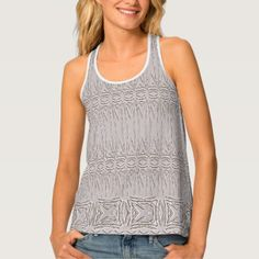 Creamy Chenille Texture in a Thick Nappy Pattern Tank Top - diy individual customized design unique ideas