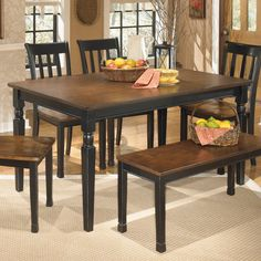 Signature Design By Ashley Owingsville Rectangular Dining Table