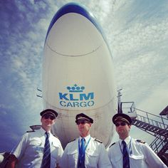 The cockpit crew for a KLM Cargo #flight #captain #flightcrew