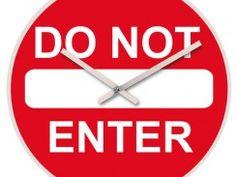 Do Not Enter Wandklok