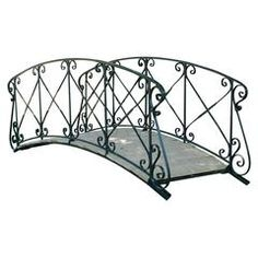Contemporary Outdoor 4 Ft Metal Garden Bridge In Black Steel With Side  Rails | Gardens, Bridges And Steel