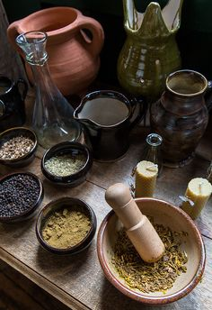 Herbs and Spices at Barley Hall by alh1 at Flickr.  My kind-o-magyk right there