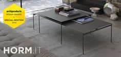 Coffee table with ceramic material top Torii
