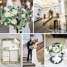 Chic Modern- Vintage City Hall Elopement Inspiration
