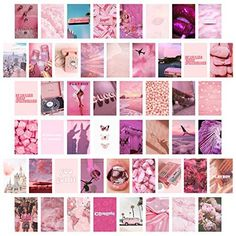 CY2SIDE 50PCS Different type Aesthetic Picture for Wall Collage, 50 Set 4x6 inch - D-Pink