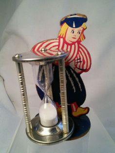 Vtg Dutch Boy Mid-cent blue red Egg Timer kitchen country decor hour glass in Collectibles, Kitchen & Home, Kitchenware | eBay