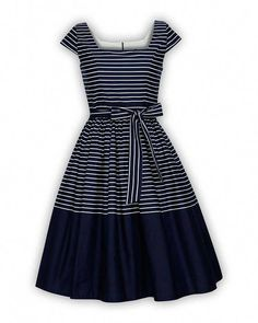 Buy Now Plus Size Navy Dress Sailor Dress Nautical Dress Stripe Dress Summer Dress Sun Dress Holiday Dress Pinup Dress Swing Party Dress by LadyMayraClothing. Pin Up Dresses, 50s Dresses, Evening Dresses, Fashion Dresses, Rockabilly Dresses, Vintage Summer Dresses, Casual Summer Dresses, Dress Summer, Dress Vintage