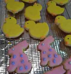 Easter cookies! Chickies and bunnies!