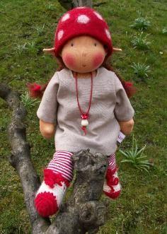 Waldorf style doll made by allerleipuppen.de