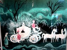 Mary Blair's conceptual storyboards for Disney's Cinderella (on House of Retro blog)