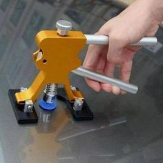 Paintless Dent Repair Tool Kit Perfect for repairing auto dents. Will not damage the original paint. Easy operation dent lifter, it can repair the dents quickly. Cool Gadgets To Buy, Car Gadgets, Garage Tools, Car Tools, Car Cleaning, Cleaning Hacks, Rv Hacks, Remove Dents From Car, Auto Gif