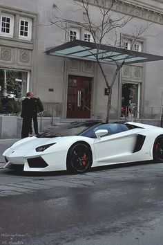 "mistergoodlife: ""White Avi photographed by Mr. Goodlife - Edit by Wormatronic "" Lamborghini Aventador Roadster, Ferrari, Chase Your Dreams, Car Wheels, Dream Cars, Super Cars, Life Is Good, Rock, Autos"