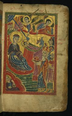 Nativity and Adoration of the Magi Form: Full-page miniature  W540