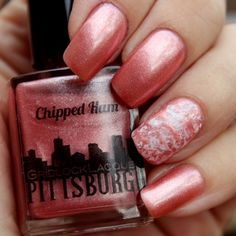 """Yes, you are reading this correctly: there is a nail polish color named """"Chipped Ham"""" pink in Gridlock Lacquer's Pittsburgh line, yours for the low, low price of $7"""