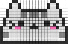 Pusheen Head Perler Bead Pattern / Bead Sprite
