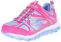 Skechers Kids Skech Bungee and Strap Sneaker (Little Kid/Big Kid), Neon  Pink/Periwinkle, 13 M US Little Kid: Ombre Mesh Bungee & Strap Sneaker