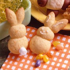 Bunny Carrot Cookies Recipe ~ Kids will enjoy helping you make this cute bunny cookie recipe.