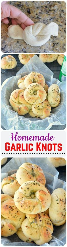 Easy Garlic Knots Recipe - Soft buttery garlic knots are fun and easy to make at home. Perfect game night appetizer- will be gone in a flash!!