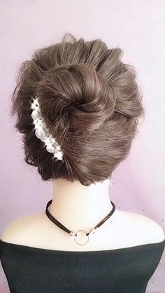 Hairstyles For Gowns, Cute Hairstyles For Medium Hair, Flower Girl Hairstyles, Elegant Hairstyles, Headband Hairstyles, Medium Hair Styles, Braided Hairstyles, Short Hair Styles, Easy Everyday Hairstyles
