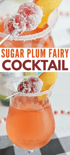 This sugar plum fairy cocktail is not only pretty to look at, it's super yummy! This is the perfect cocktail to serve at a holiday party and it's really easy to make. Holiday Drinks, Party Drinks, Cocktail Recipes, Cocktails, Drink Recipes, Sugar Plum Fairy, Cocktail Ingredients, Christmas Treats, Cocktail