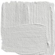 """Horizon: Benjamin Moore 1478 (white cast) This looks very light on the paint chip but it is much better than a white because it has a more luminous feel to it that reflects the other colors in the room while still being interesting on its own. """"I always come back to Horizon, a pale gray that doesn't turn blue or green on you"""" (Steve Gambrel, House Beautiful)."""