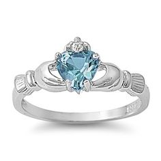 9MM 2ctw Sterling Silver DECEMBER BLUE ZIRCON HEART ROYAL IRISH Claddagh Ring 4-10 (7) THE ICE EMPIRE http://www.amazon.com/dp/B008FHW6YS/ref=cm_sw_r_pi_dp_UaBQtb1YM33TWH36