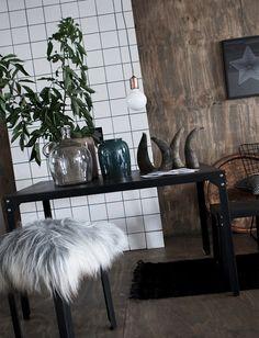 Daniella Witte - Wooden wall + viking horns