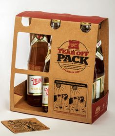 Miller HighLife - Tear Off Pack Punch-out coasters