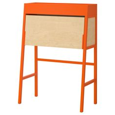 IKEA - IKEA PS 2014, Secretary, orange/birch veneer, , Cable outlets for easy cable management.It's easy to keep a clean look by folding up the leaf on the secretary to hide away your work.