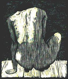 """Crouching Nude on Jetty in Sunlight,"" Frederick Jones (British, b. Wood engraving, 10 x 12 in. Gravure Illustration, Illustration Art, Engraving Illustration, Linocut Prints, Art Prints, Block Prints, Etching Prints, Wood Engraving, Engraving Ideas"