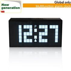 Digital Big Jumbo LED Snooze Wall Alarm Calendar Countdown Large Gadget Clock | eBay