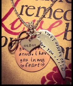 FREE SHIP Loss of a loved one memorial wing charm stamped jewelry mom dad child husband wife memory