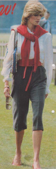 May 25, 1983: Princess Diana at polo match at the Smith's Lawn, Windsor.