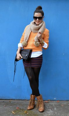 @Maria Canavello Mrasek / Kitties + Couture Looking oh-so-fab! #color #blogger #stripes