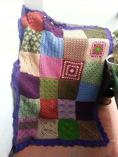 La ventana azul: 84.- Manta a crochet KTV SAMPLER 2013